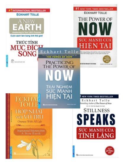 Trọn bộ 5 quyển sách hay nhất của Eckhart Tolle