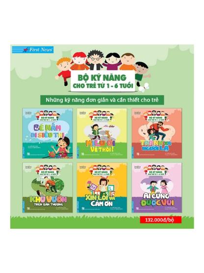 Bộ sách Kỹ năng cho trẻ từ 1-6 tuổi (trọn bộ 6 quyển)