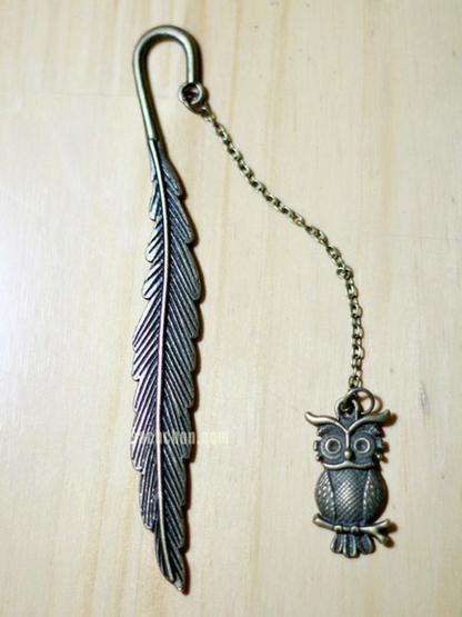 Bookmark mạ đồng chim cú