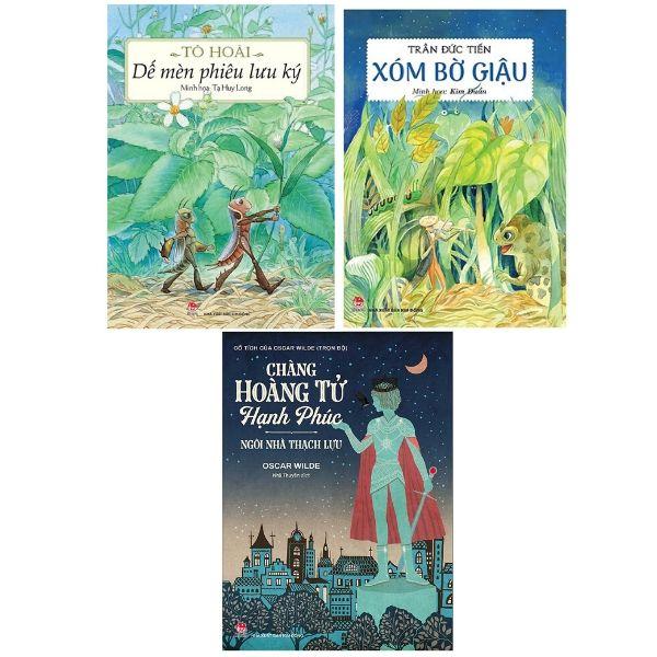 Bộ 3 quyển: Xóm Bờ Giậu + Dế Mèn phiêu lưu ký + Chàng Hoàng Tử Hạnh Phúc - Ngôi Nhà Thạch Lựu