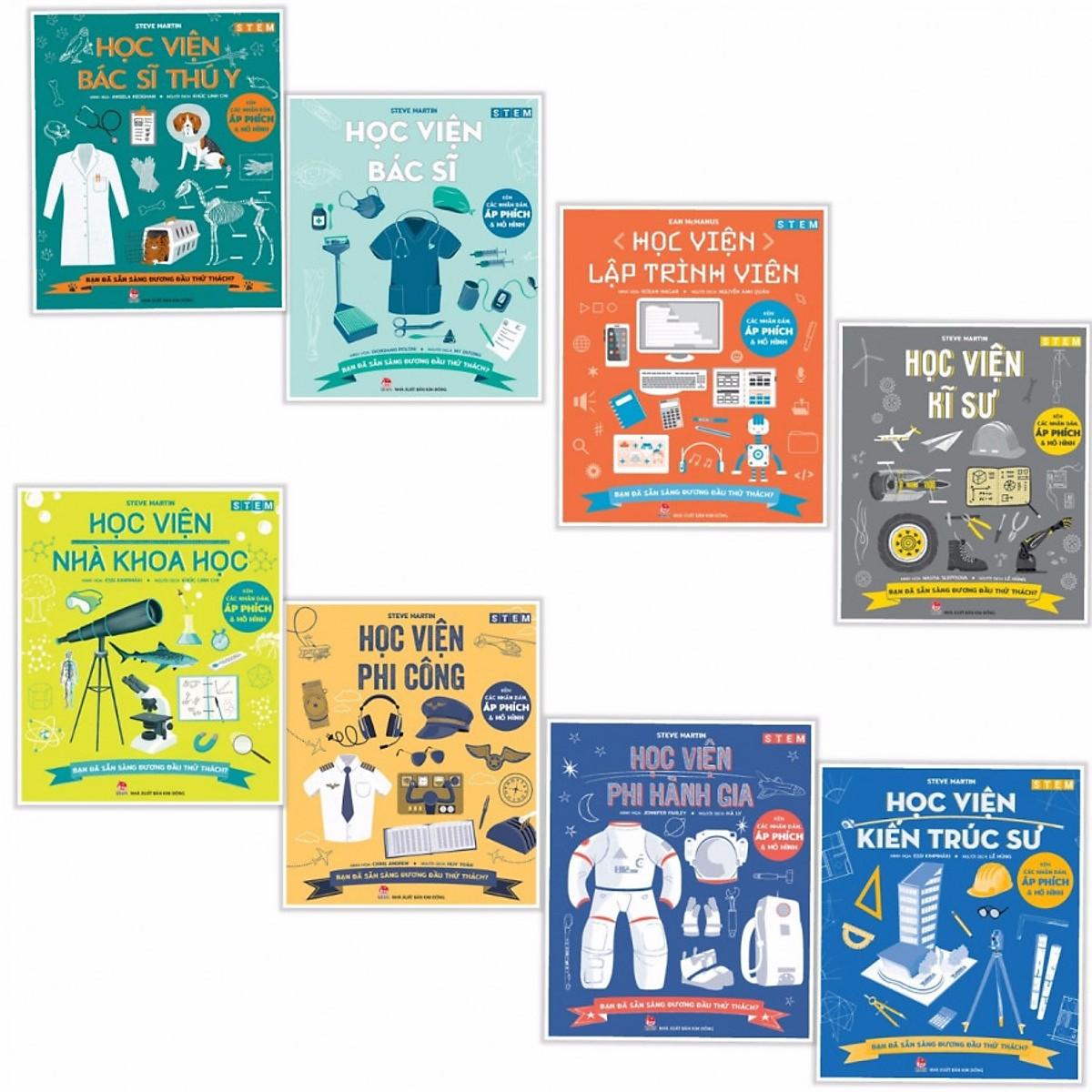 Trọn bộ STEM Khoa học: Giúp trẻ khám phá và sáng tạo (trọn bộ 8 quyển)