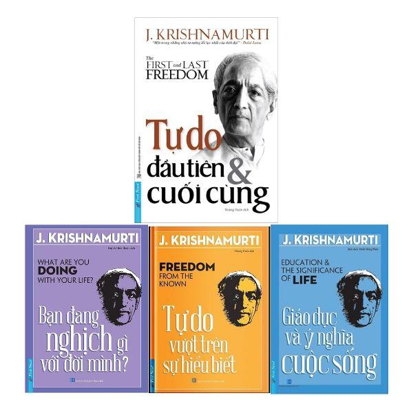 Triết gia J.Krishnamurti - bộ 4 quyển sách hay nhất