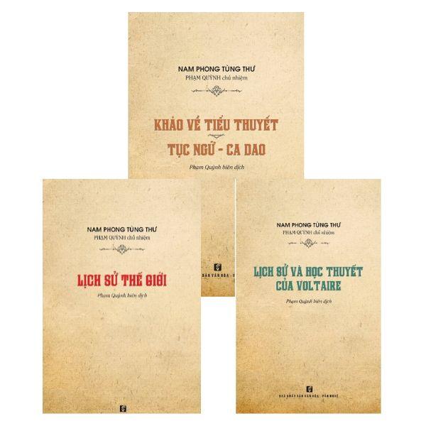 Bộ sách Nam Phong Tùng Thư (3 quyển)