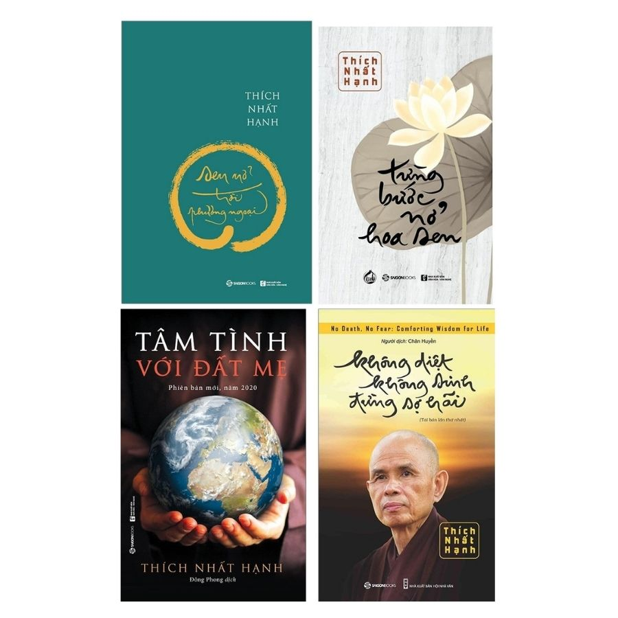 4 quyển sách của Sư Ông Thích Nhất Hạnh