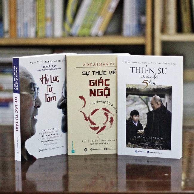 3 quyển sách Giác Ngộ: Sự thực về giác ngộ, Hỷ lạc từ tâm, Thiền sư và em bé 5 tuổi